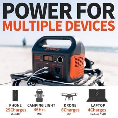 Explorer 290 Outdoor Portable Power Station, 292Wh Solar Generator with AC Outlet for Camping, Travel and Emergency Use