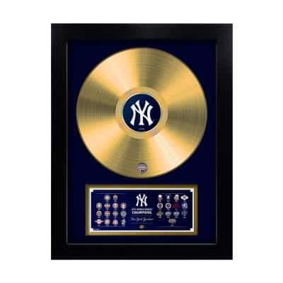 MLB New York Yankees 27-Time World Series Champion Gold Record