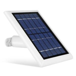 Solar Panel Compatible with Ring Spotlight Cam Battery and Ring Stick Up Cam Battery (1 Pack, White)