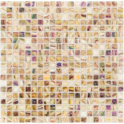Breeze Organic Honey 12-3/4 in. x 12-3/4 in. x 6 mm Glass Mosaic Tile