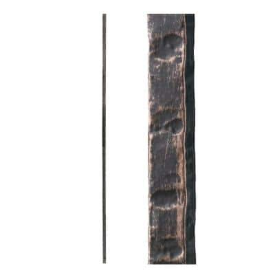 Oil Rubbed Bronze 3.2.1 Square Hammered Plain Solid Iron Baluster for Staircase Remodel