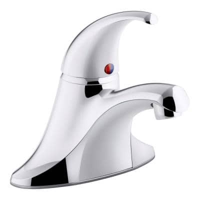 Coralais 4 in. Centerset Single-Handle Bathroom Faucet in Polished Chrome