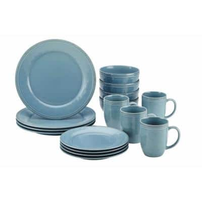 Cucina 16-Piece Agave Blue Dinnerware Set