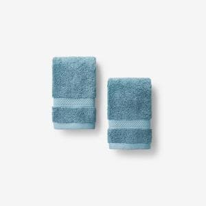 Legends Sterling Shore Blue Solid Supima Cotton Wash Cloth (Set of 2)