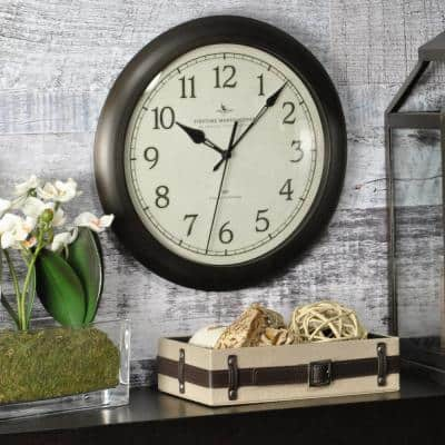 11 in. Bronze Wall Clock with Whisper Technology