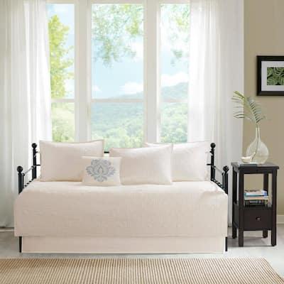 Mansfield 6-Piece Cream Reversible Daybed Bedding Set