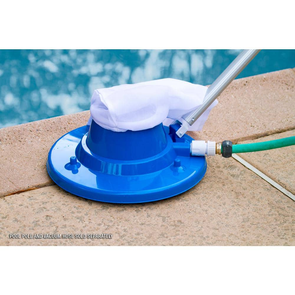 Hdx Deluxe Swimming Pool Leaf Vacuum Head With Suction Jets And Leaf Bag 68205 The Home Depot