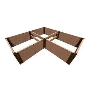 8 ft. x 8 ft. x 22 in. Tool-Free Classic Sienna Composite Arrowhead Straight Corner Raised Garden Bed 2 in. Profile