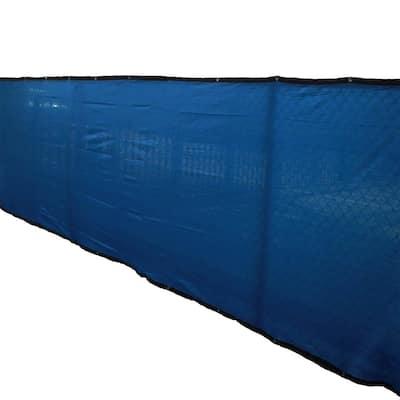 72 in. H x 600 in. W Polyethylene Blue Privacy/Wind Screen Garden Fence
