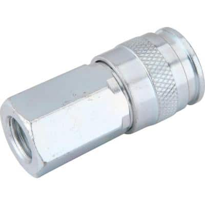 Zinc 1/4 in. x 1/4 in. Female to Female Universal Coupler