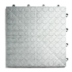 12 in. x 12 in. Coin Alloy Modular Tile Garage Flooring (24-Pack)