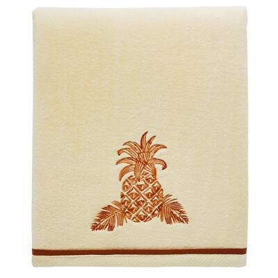Batik Pineapple Medium Orange 52 X 27 Cotton Bath Towel