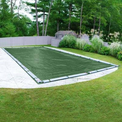 Titan 25 ft. x 45 ft. Rectangular Green Solid In-Ground Winter Pool Cover