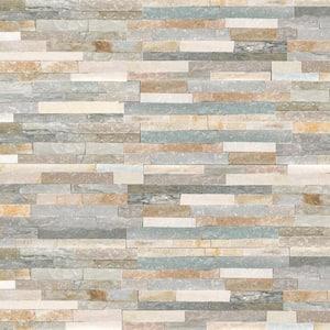 Malibu Honey Ledger Panel 6 in. x 24 in. Natural Quartzite Wall Tile (8 sq. ft./Case)