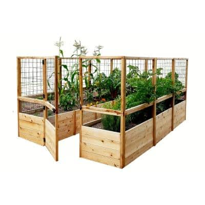 8 ft. x 12 ft. Garden in a Box with Deer Fencing