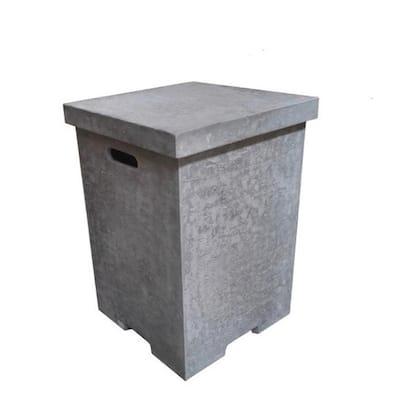 17.7 in. x 24.4 in. Concrete Top Removeable Square Propane Tank Cover
