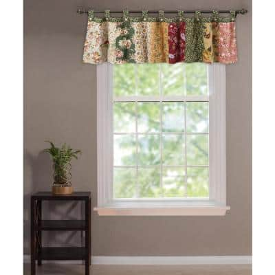 Antique Chic 21 in. L Cotton Valance in Multi