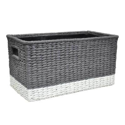 19.5 in. x 10.5 in. Graphite Gray Resin Window Boxes & Troughs
