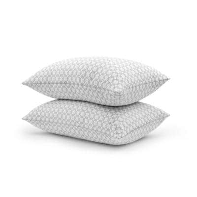 Charcoal Lux Memory Foam Jumbo Knit Pillow Set of 2