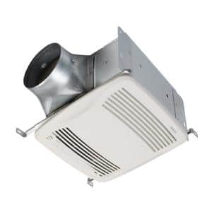 Broan Nutone Qt Series Quiet 130 Cfm Ceiling Bathroom Exhaust Fan With Light And Night Light Energy Star Qtn130le1 The Home Depot
