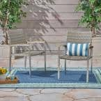 Legacy Silver Stationary Wicker Outdoor Dining Chair (2-Pack)