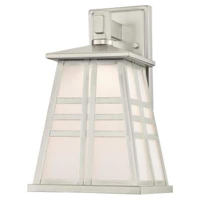 Creekview 1-Light Brushed Nickel Outdoor Integrated LED Wall Lantern Sconce