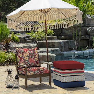 24 x 24 Ruby Clarissa Tropical 2-Piece Deep Seating Outdoor Lounge Chair Cushion