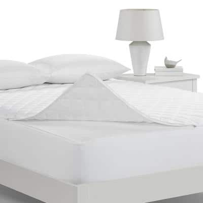 Protection Plus Full Mattress Pad in White