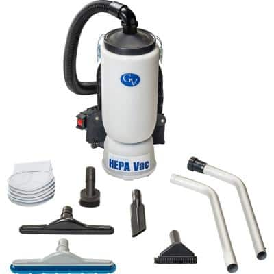 6 qt. Lightweight Backpack HEPA Vacuum Cleaner with Tool Kit