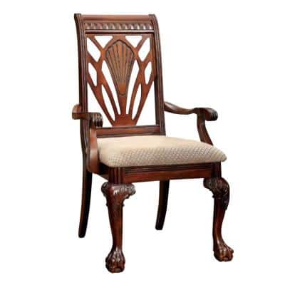 Traditional Cherry Arm Chair (Set of 2)