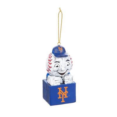 New York Mets 1-1/2 in. MLB Mascot Tiki Totem Christmas Ornament