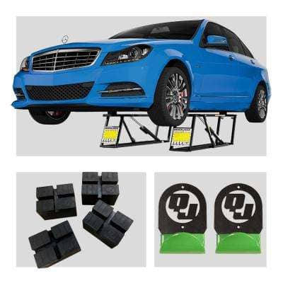 BL-5000SLX 5,000 lbs. Capacity Portable Car Lift Bundle Package with 4pc pinch weld blocks and wall hangers