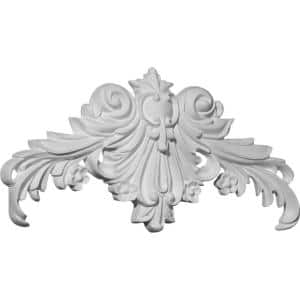 Ornamental Mouldings 3017pk 7 32 In X 5 1 4 In X 1 3 4 In Birch Small Acanthus Scroll Onlay Ornament Moulding Pair 3017pkwhw The Home Depot
