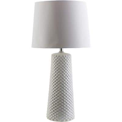 Sims 29.25 in. White Indoor Table Lamp