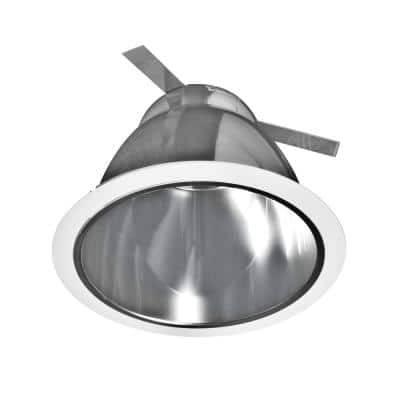 6 in. Clear Recessed Specular Reflector Cone with White Trim Ring