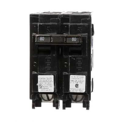 80 Amp 2-Pole QPH 22 kA Circuit Breaker