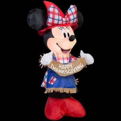 3.5 ft. H Inflatable Minnie as Scarecrow