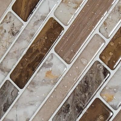 C-Stones Beige 10.5 in. x 11.8 in. Vinyl Wallpaper Peel and Stick Backsplash Tiles ( 8.7 sq ft. /Pack)