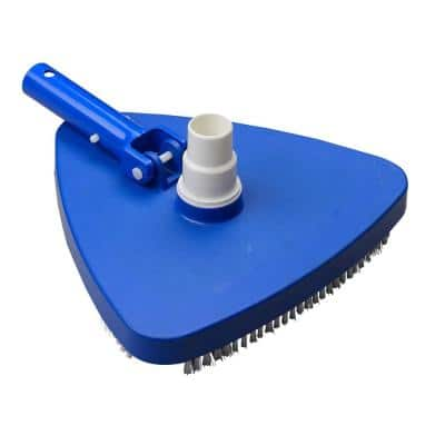 Deluxe Triangular Pool Vacuum Head with Swivel, Easy Snap-On Attachment for 1.25 - 1.5 in. Hose