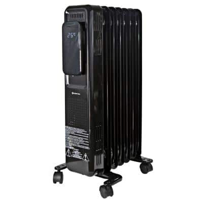 1500-Watt Electric Oil-Filled Space Heater with Digital Display