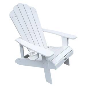 Island Retreat Plastic Adirondack Chair in White