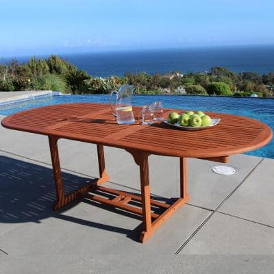 Malibu Oval Extension Outdoor Dining Table