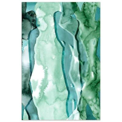 """Water Women I"" by EAD Art Coop Frameless Free-Floating Tempered Art Glass Wall Art"
