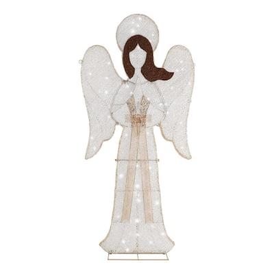 6 ft LED 150-Light 2D Angel Twinkle Yard Sculpture