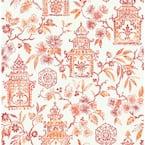 Red Coral Danson Peel and Stick Wallpaper Sample