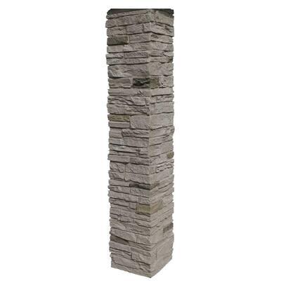 Slatestone 8 in. x 8 in. x 41 in. Sahara Faux Polyurethane Stone Post Cover