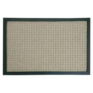 Nottingham Tan 18 in. x 30 in. Rubber Backed Carpet Mat