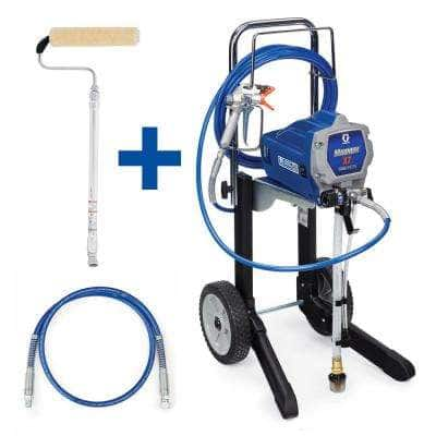 Magnum X7 Cart Airless Paint Sprayer with 4 ft. Whip Hose and Pressure Roller Kit