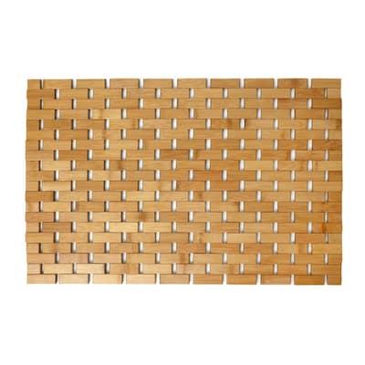 24.5 in. x 16.5 in. Bamboo Bath Mat