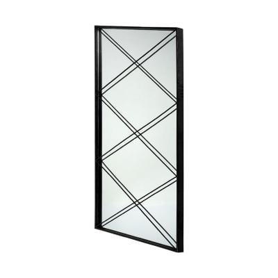 Large Rectangle Black Contemporary Mirror (48.00 in. H x 26.00 in. W)